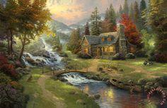 Thomas Kinkade Mountain Paradise painting - Mountain Paradise print for sale