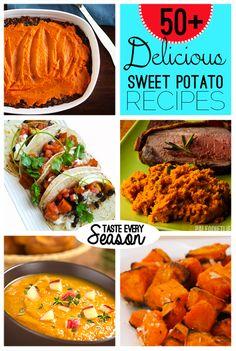Over 50 Tasty Sweet Potato Recipes via @savedbyloves