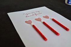 DIY Easy Valentine Card #diy #tutorial #craft #card #wish #Valentine #heart #printable #freebie #candle