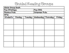 Take A Closer Look At Guided Reading ThirdGradeTroopcom - Reading group lesson plan template