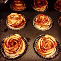 Mini Apple Rose Tarts, Wouldn't these be perfect for a Beauty and the Beast party? #DisneySide