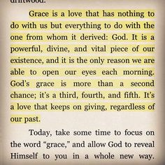 Love this. God's Grace.  Would love to have this framed somehow...