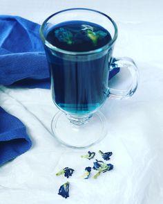 Butterfly pea blue tea.