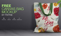 Free PSD Canvas Bag Mockup - Doctor Pixel Bag Mockup, Free Canvas, Reusable Tote Bags, Projects, Log Projects, Blue Prints
