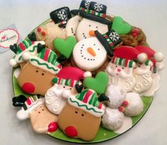 Christmas Cookie Platter by Cookieria By Margaret