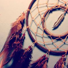 Brown dream catcher brown web rooster by dreampeacepositivity, £12.00