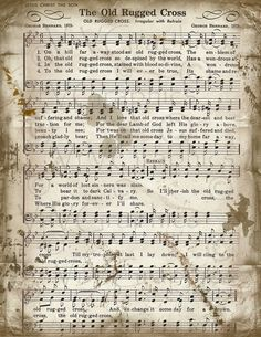 The Old Rugged Cross Free Piano Sheet Music Google Search