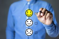 Does making a customer happy make an employee happy? Six ways to improve employee engagement. Employee Feedback, Customer Feedback, Customer Experience, Employee Satisfaction Survey, Good Employee, Blockchain, Des Questions, Survey Questions, Interview Questions