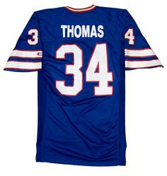 Hall of Fame running back Thurman Thomas wore this jersey during the 1990 NFL season. That year, he led the NFL with 1,829 all-purpose yards, topped all AFC rushers, recorded a career-best 214 rushing yards in a game against the New York Jets, was voted to the Pro Bowl, and named All-Pro. The Buffalo #Bills won the AFC Eastern Division with a 13-3 record and advanced to the Super Bowl for the first time in franchise history.