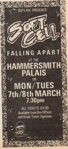 Soft Cell at Hammersmith Palais