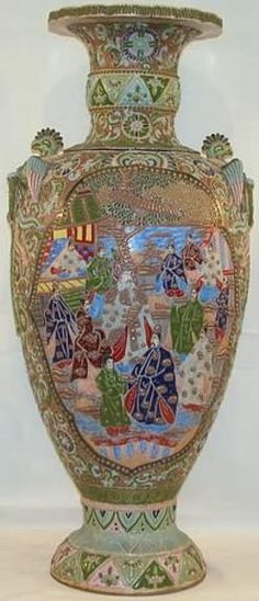 Vtg Made In Japan Satsuma Moriage Dragonware Decorative