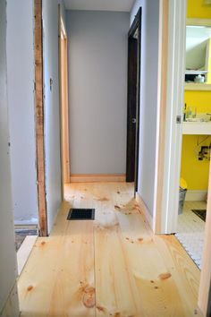 Two things…one…I've been watching ALOT of Die Hard lately (hence the blog post title) and two…we've laid down the pine flooring in our upstairs hallway and took it fro…