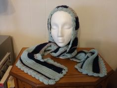 New hood with attached scarf by grandmajeannes on Etsy
