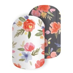 She's Lovely   Jamberry   Featuring an oh-so-elegant botanical motif, you're sure to be looking lovely in this mixed-mani, 'She's Lovely'.