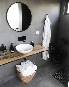 Matte Black Taps, Tapware, Showers & Accessories creates strong contrast and moody ambience in the home of Glass Bathroom, Laundry In Bathroom, Small Bathroom, Cheap Office Decor, Cheap Home Decor, Bad Inspiration, Bathroom Inspiration, Old Home Remodel, Luxury Towels