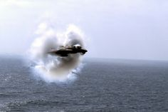 F-14 Tomcat breaking the sound barrier