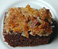 German Chocolate Upside-Down Cake