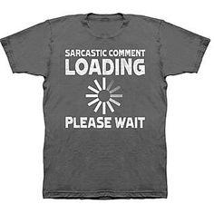 -Men's Big & Tall Graphic T-Shirt - Sarcastic Comment