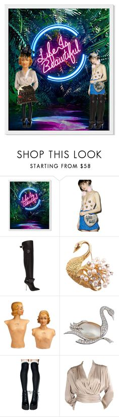 """""""Creation station"""" by lerp ❤ liked on Polyvore featuring Skinnydip, Versace, Yves Saint Laurent, Black Swan and Prada"""