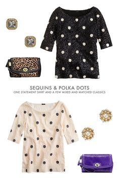 i'm loving this sequin & polka dot top from j.crew / color me caitie