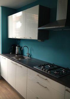 Blauw Witte Keukens op Pinterest - Sarah Richardson Keuken, Gember ...