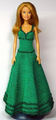 Free crochet/knit patterns for lots of Barbie size clothes on this page...not just this one...