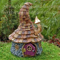 Fairy Homes and Gardens - Shingletown Wizard House, $30.99 (https://www.fairyhomesandgardens.com/shingletown-wizard-house/)