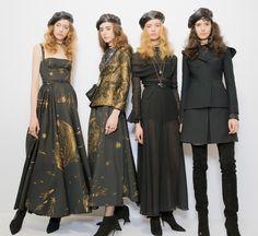 Lia Pavlova, Margot Baget, Noa Zijlmans and Isabella Ridolfi for Christian Dior Fall 2017.