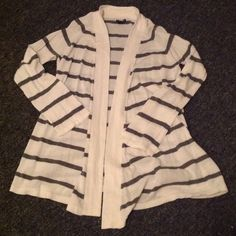 Express striped cardigan top Beautiful and in like new condition. Gently worn. Fits like medium-large. Express Tops