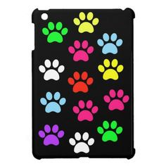Colorful Pawprints Ipad Mini Case. Sold to a customer in Mesa, AZ :)