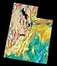 Geological map of Utah