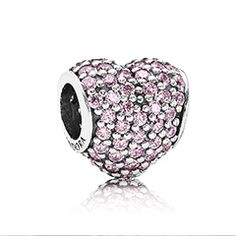 Official PANDORA Pink Pave Heart Charm from The Jewel Hut. Highest rated PANDORA retailer - shop our gorgeous collection and get FREE delivery. Pandora Charms, Pandora Uk, Pandora Jewelry, Pandora Accessories, Pandora Collection, Birthstone Charms, Silver Charms, Heart Charm, Black Friday