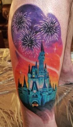 Disney Magic Kingdom Tattoo by Okinawa Ink