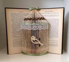 Image result for book folding bird cage