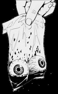 - Bag of Eyeballs in Black and white. #artwork #blackandwhite #eyeballs http://www.pinterest.com/TheHitman14/black-and-white/