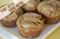 Peanut Butter Banana Muffin recipe | OAMC from Once A Month Mom