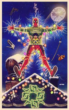 deadpool christmas vacation by m7781.deviantart.com on @DeviantArt