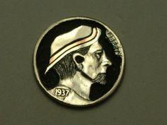John Demarco - Hobo Nickel with Copper Inlay Hobo Nickel, Buffalo, Coins, Copper, Rooms, Brass, Water Buffalo