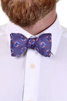 Custom Handmade Mens Houndstooth Bow tie Vintage style 70s Pre Tied Black//White