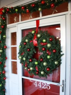 7 Front Door Christmas Decorating Ideas | Interior Design Styles and Color Schemes for Home Decorating | HGTV