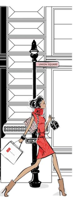 ~Get Pampered at 5th Avenue's Red Door Spa - Megan Hess Illustration | House of Beccaria