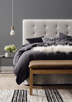 A mattress without a bedhead is a bit like an outfit with no shoes, sure it works in certain casual situations, but if you're looking to add some sophistication to your bedroom's personality a bedhead is a must. Here are our top five styles. Words Loni Parker 1 BUTTON-UP Button up (ah