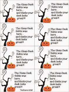 Free desk goblin notes for clean desks