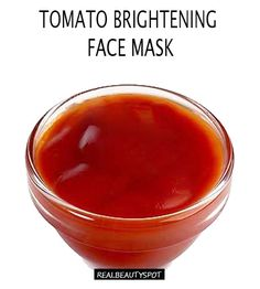 Tomato Brightening face mask To prepare this face mask, you need: * Tomato paste – 1tsp * yogurt – 2tsp Mix yogurt and tomato paste and apply it on face. Wait for fifteen minutes. Rinse with cool water. This pack makes your skin radiant by removing dead cells, doing away with minor blemishes and absorbing toxins. This will help brighten uneven skin tone and gently minimize the look of old acne scars and discolorations from the sun.