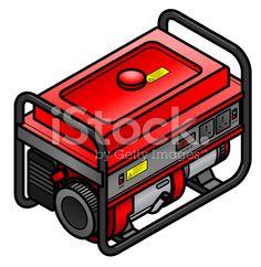Portable petrol/gasoline generator royalty-free stock vector art