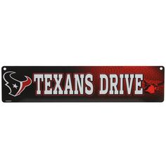 Houston Texans 4'' x 16'' Street Sign