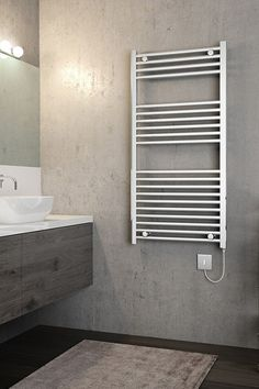 Shop for Brenton Apollo Electric Straight Chrome Heated Towel Rail - - 1200 x with free UK delivery* at Only Radiators! Electric Towel Rail, Electric Radiators, Heated Towel Rail, Apollo, Chrome, Bathroom, Washroom, Full Bath, Bath