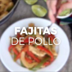 Cómo hacer fajitas de pollo - Try Tutorial and Ideas Authentic Mexican Recipes, Mexican Food Recipes, Comida Diy, Food Porn, Deli Food, Cooking Recipes, Healthy Recipes, Food Videos, Love Food
