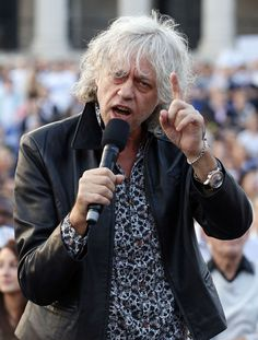 Bob Geldof addresses crowds of 'No' campaigners as they attend a 'Better Together' rally in Trafalgar Square, London ahead of the Scootish independence referendum on Thursday. The Boomtown Rats, African Development Bank, Bob Geldof, Scottish Independence, Trafalgar Square, Pink Floyd, Rally, Boom Town, Rat Boy