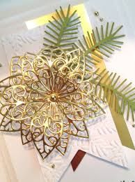 gold poinsettia christmas card - Google Search